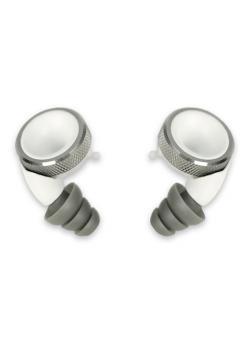 Knops Design Gehörschutz-white-Silber geriffelt